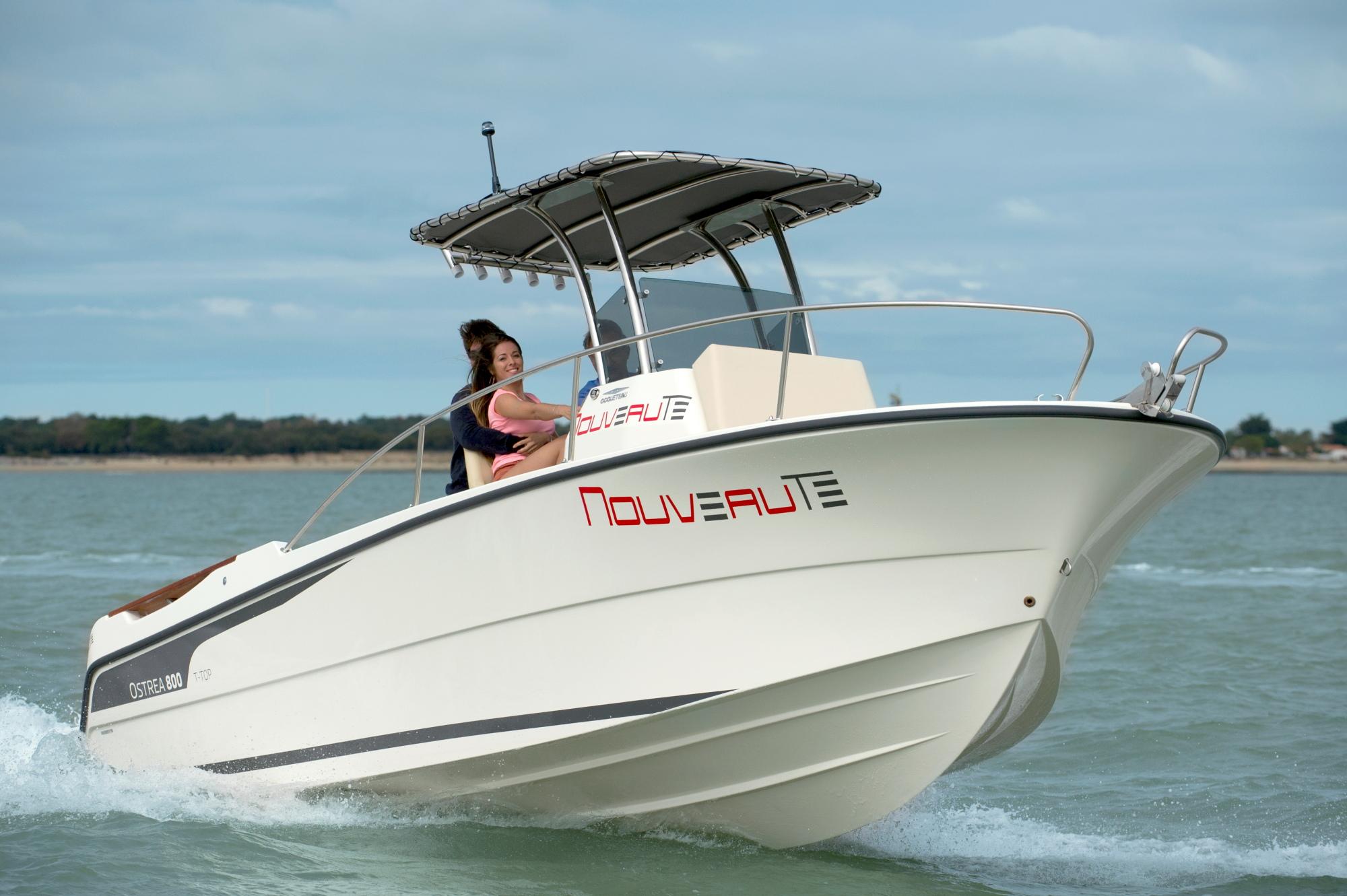 bateau  u00e0 moteur ocqueteau ostrea 800 t-top hors-bord - notre gamme