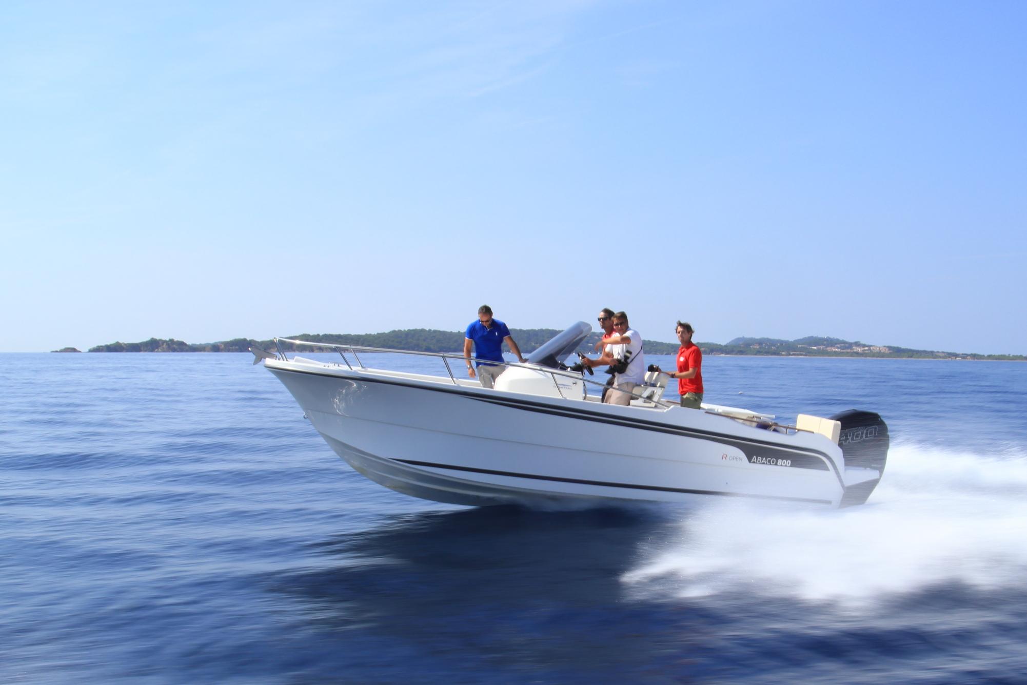 bateau  u00e0 moteur ocqueteau abaco 800 hors-bord